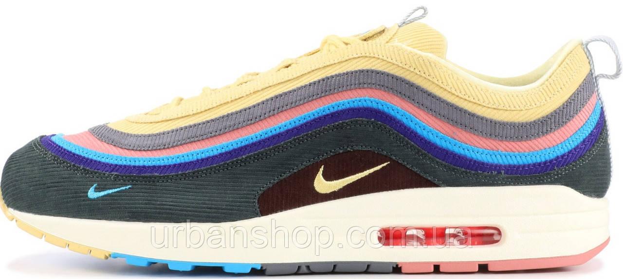 """Кросівки чоловічі Найк Nike Air Max 1/97 """"Sean Wotherspoon. ТОП Репліка ААА класу."""