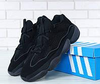 Чоловічі кросівки AD Yeezy 500 Utility Black, А-д изи буст . ТОП Репліка ААА класу., фото 1