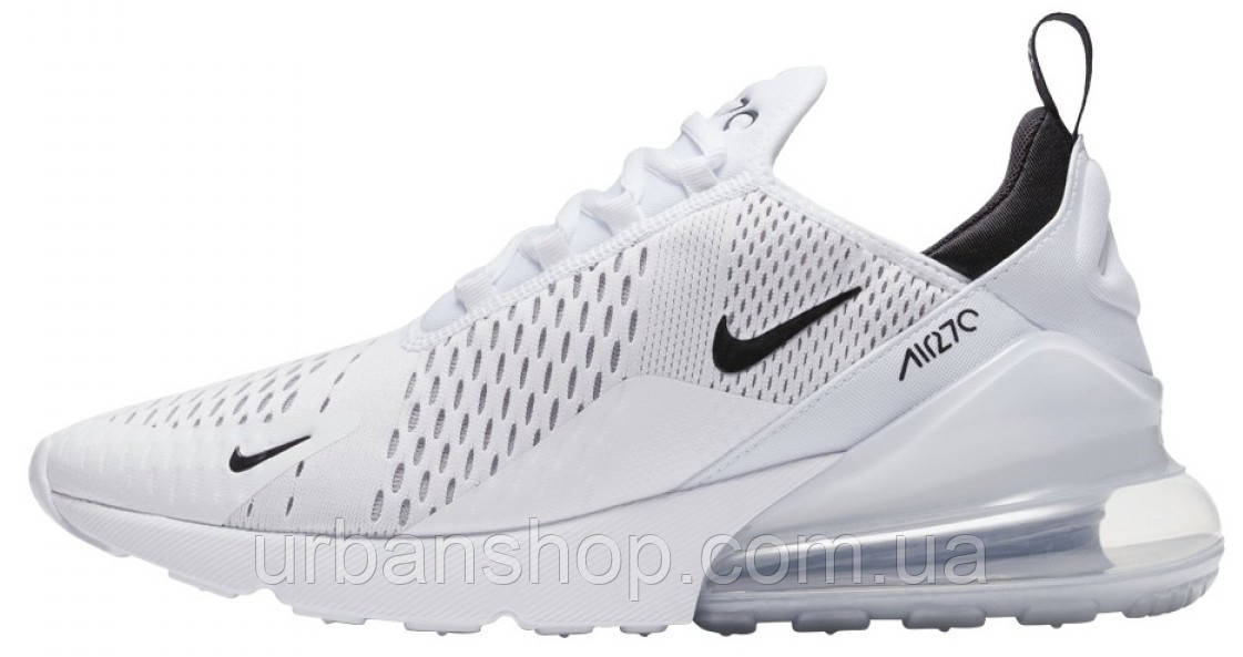 Кросівки чоловічі Найк Nike Air Max 270 White. ТОП Репліка ААА класу.