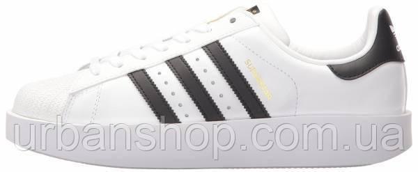 Жіночі кросівки AD Superstar Bold WHITE BLACK GOLD, А-д . ТОП Репліка ААА класу.