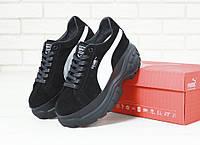 Жіночі кросівки Puma Buffalo Black . ТОП Репліка ААА класу., фото 1