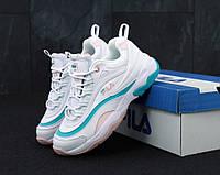 Жіночі кросівки Fila Ray White . ТОП Репліка ААА класу., фото 1
