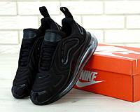 Чоловічі кросівки Nike Air Max 720 Black. ТОП Репліка ААА класу.