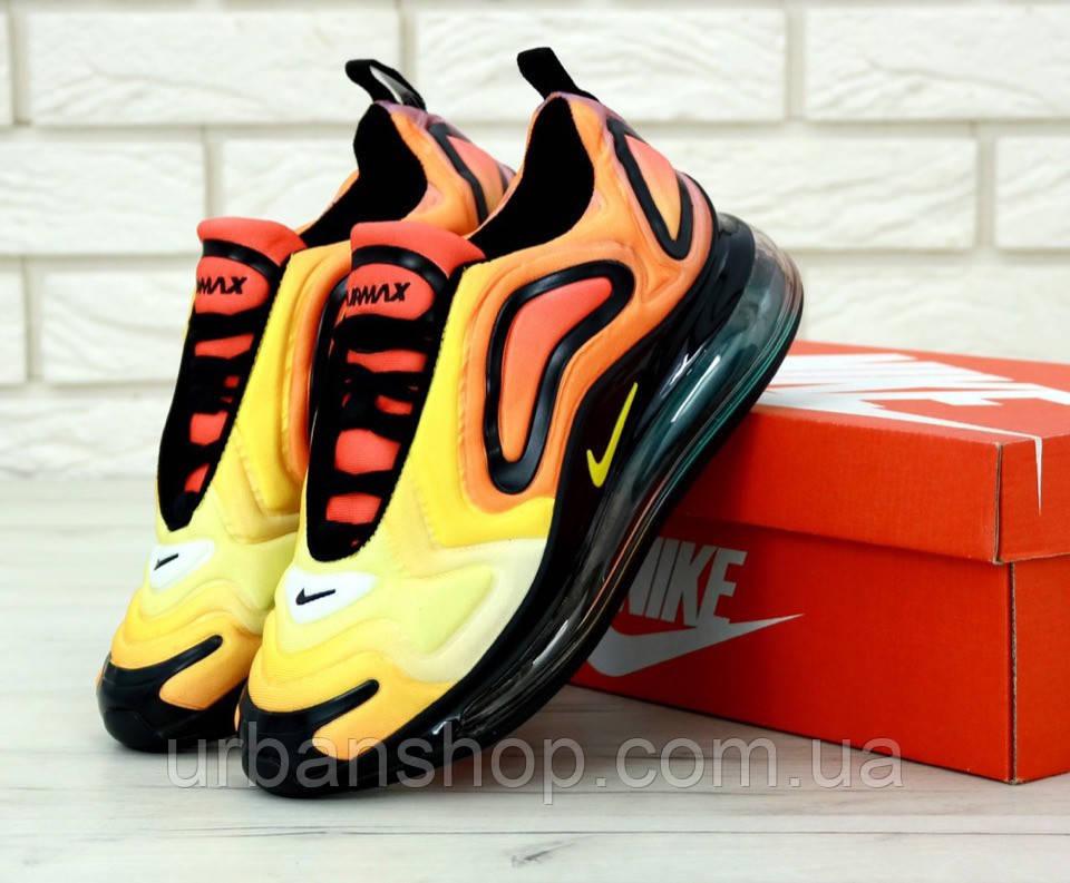 Чоловічі кросівки Nike Air Max 720 Black Orange. ТОП Репліка ААА класу.