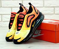 Чоловічі кросівки Nike Air Max 720 Black Orange. ТОП Репліка ААА класу., фото 1