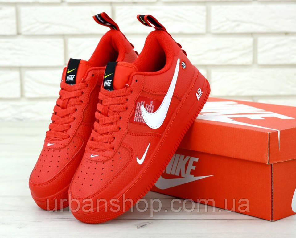 Чоловічі кросівки Nike Air Force 1 '07 / Red. ТОП Репліка ААА класу.