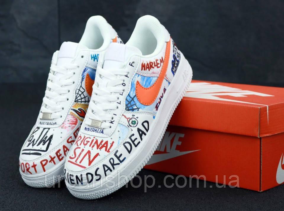 Чоловічі кросівки Pauly x Vlone Pop Nike Air Force . ТОП Репліка ААА класу.