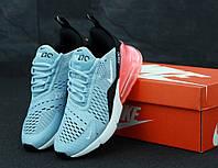 Жіночі кросівки Nike Air Max 270 Blue. ТОП Репліка ААА класу., фото 1