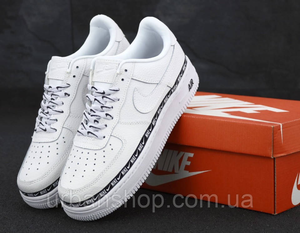 Чоловічі кросівки Nike Air Force 1 '07 SE Premium White Білий . ТОП Репліка ААА класу.