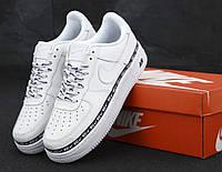 Чоловічі кросівки Nike Air Force 1 '07 SE Premium White Білий . ТОП Репліка ААА класу., фото 1