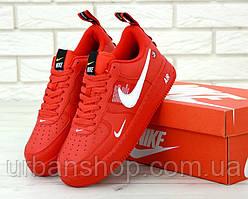 Жіночі кросівки Nike Air Force 1 '07 / Red. ТОП Репліка ААА класу.
