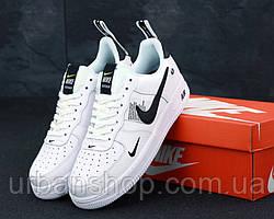 Жіночі кросівки Nike Air Force 1 TM White Black Low. ТОП Репліка ААА класу.