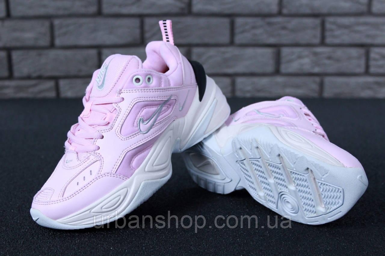 Жіночі кросівки Nike M2K Tekno Pink. ТОП Репліка ААА класу.