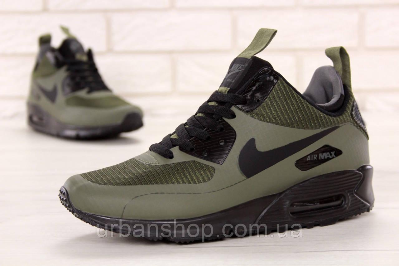 Кросівки чоловічі Найк Nike Air Max 90 Mid Winter Green. ТОП Репліка ААА класу.