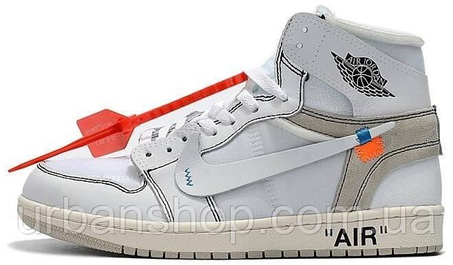 Чоловічі кросівки Nike Jordan Off White . ТОП Репліка ААА класу.