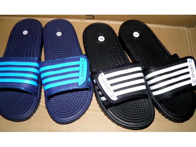 Шлепки Sport 771-8L черный, синий * 20704