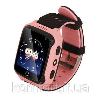Детские умные смат часы M05 с GPS, фонариком и камерой Розовый, фото 2
