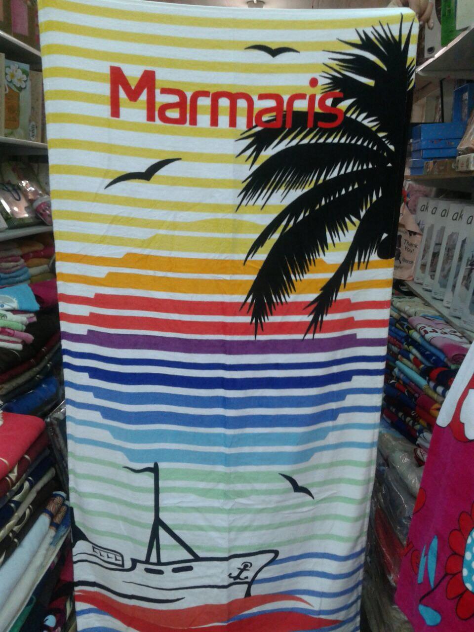 Пляжное полотенце с принтом 100% Турция 75*150 см в ассортименте