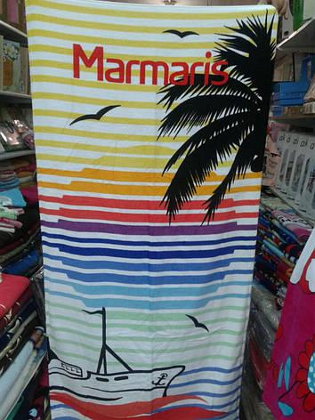 Пляжное полотенце с принтом 100% Турция 75*150 см в ассортименте, фото 2
