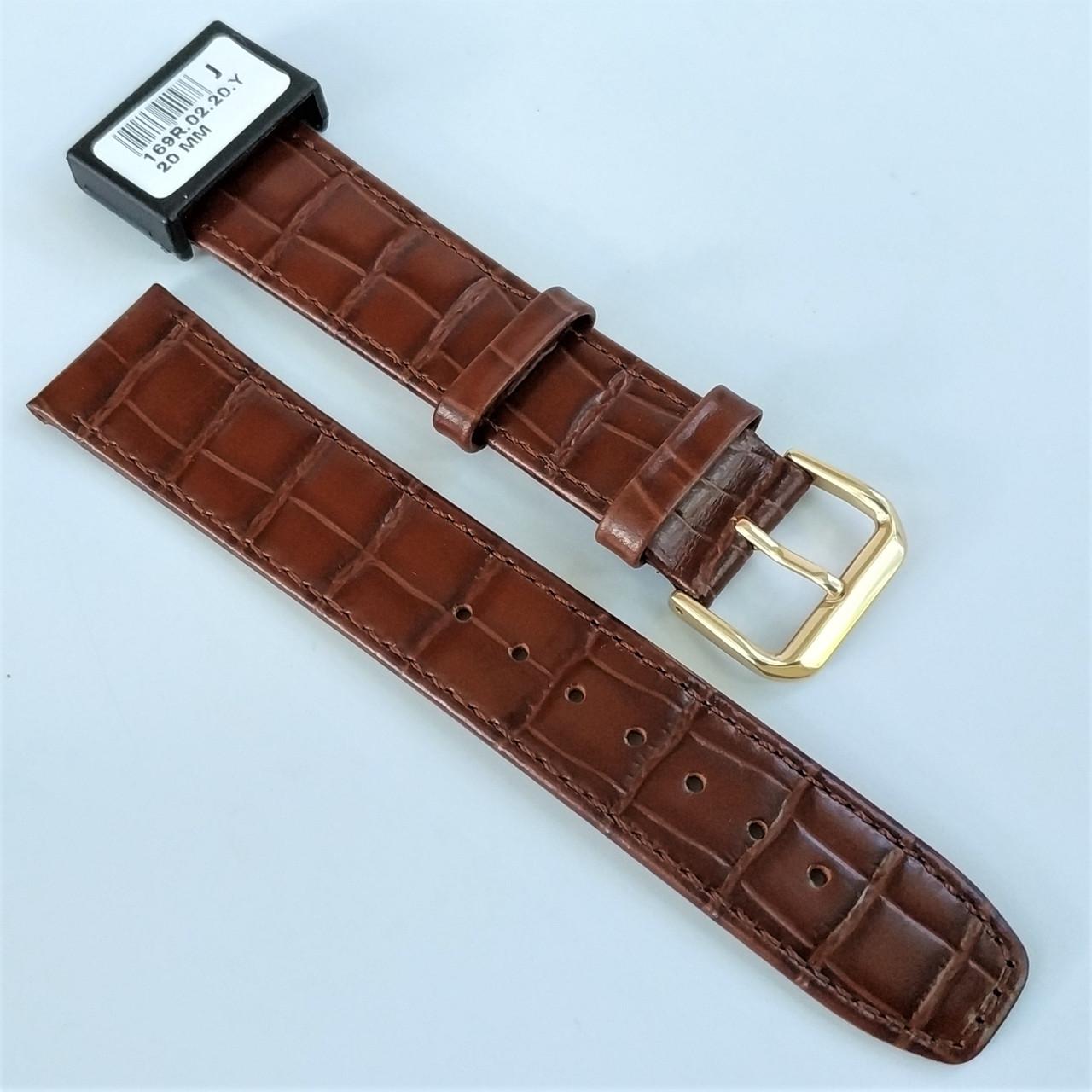 20 мм Кожаный Ремешок для часов CONDOR 169.20.02 Коричневый Ремешок на часы из Натуральной кожи