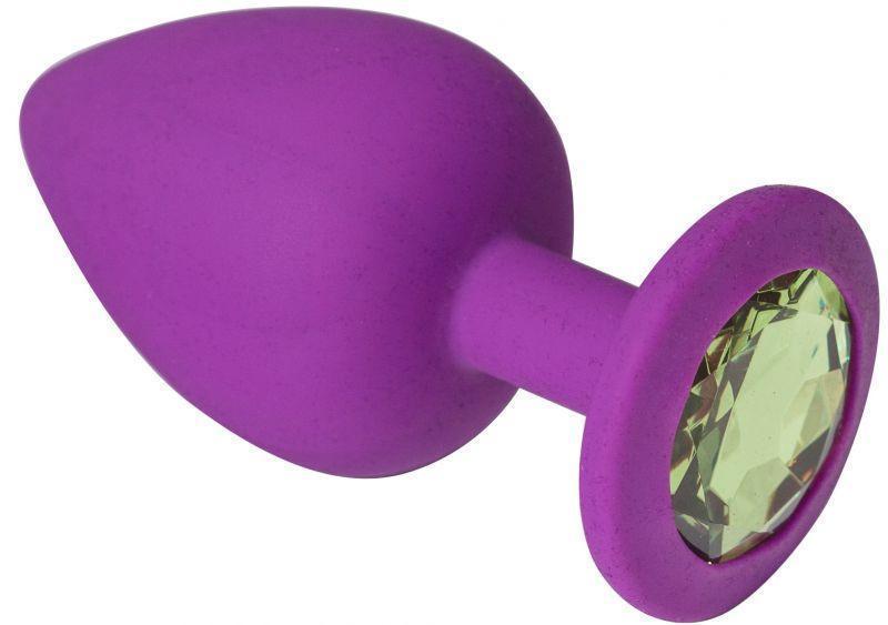 Анальная пробка, Purple Silicone Chrysolite, L