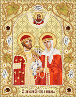Набор вышивки бисером на атласе Петр и Феврония