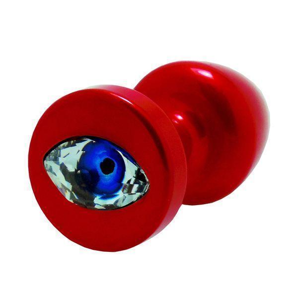 Анальная пробка со стразом Diogol Anni R Eye Red Кристалл 30мм