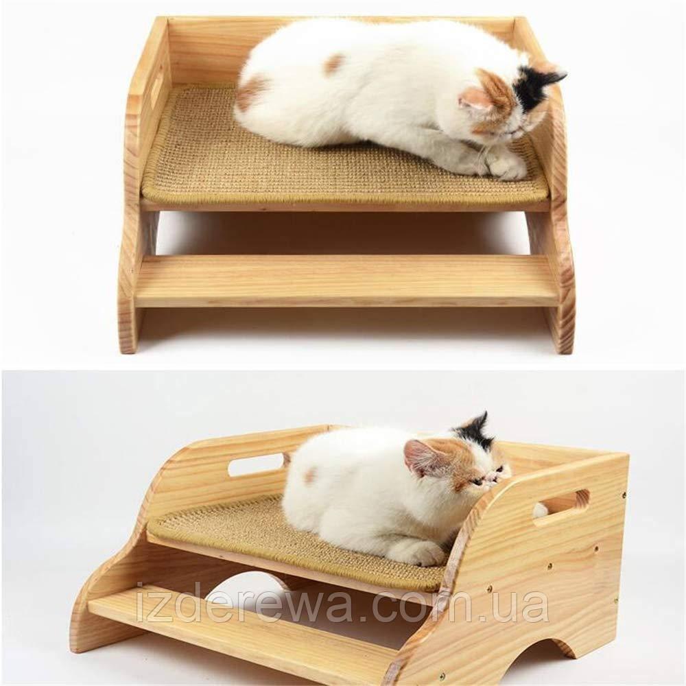 """Лежак для кошки """"Рамона"""" бланже"""