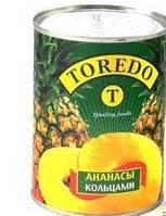 Ананасы кольцами TOREDO 580 грамм
