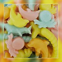 Жевательный мармелад Морские ( вкус банан, манго, клубника, слива) 200грамм
