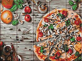 Картина за номерами на дереві в коробці Піца ASW029 30*40 см
