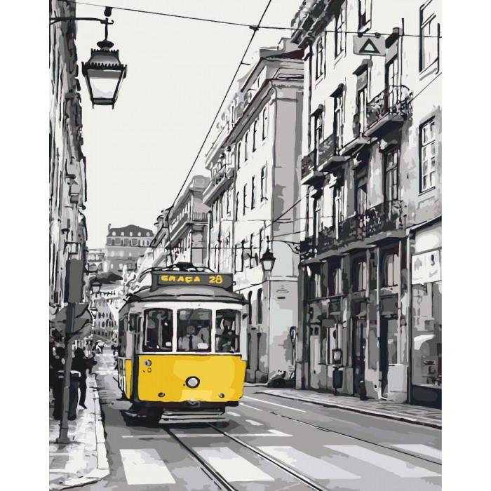 Картина за номерами Жёлтый трамвайчик, 40x50 см.