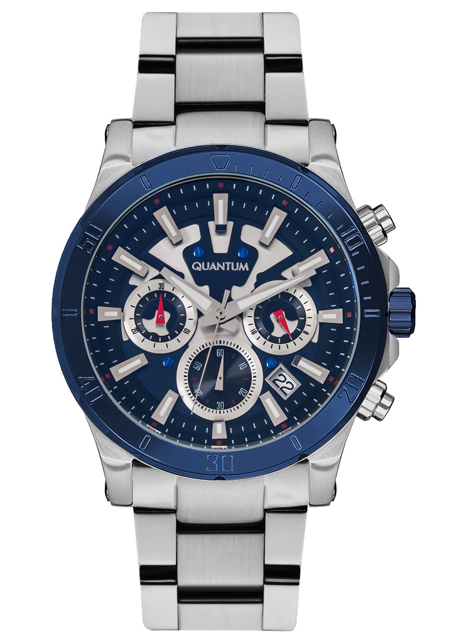 Часы мужские Quantum PWG677.990 серебряные