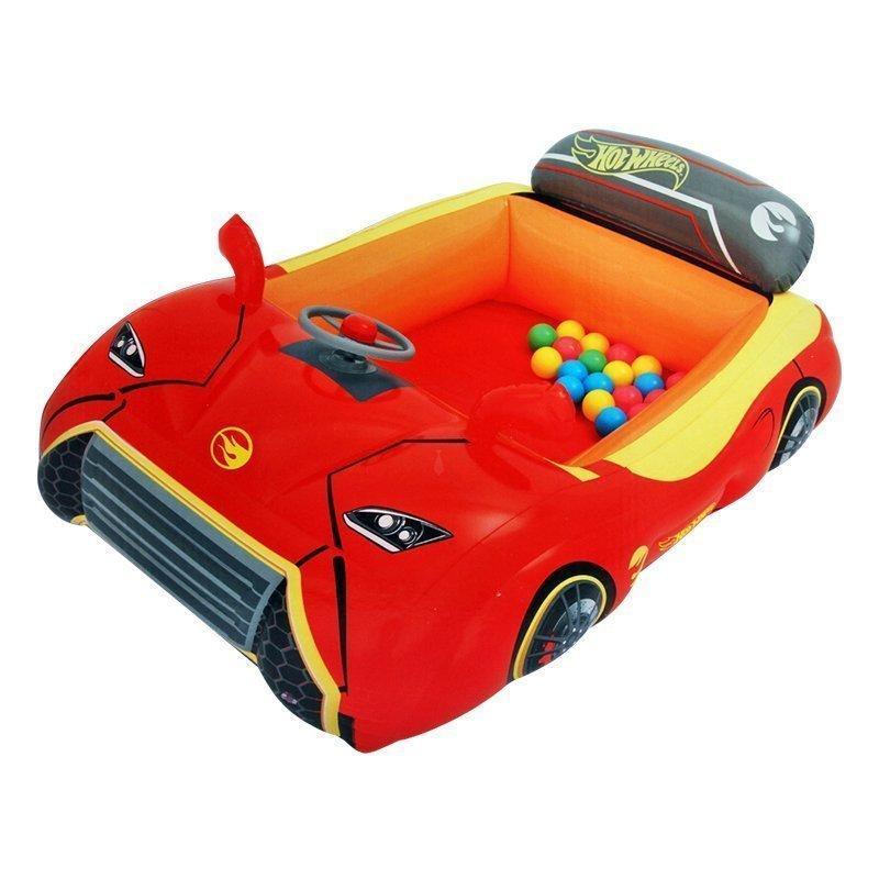 Надувной игровой центр - кровать Bestway Hot Wheels 93404 «Тачки» шариками 25 шт