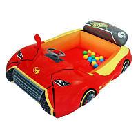 Надувной игровой центр - кровать Bestway Hot Wheels 93404 «Тачки» шариками 25 шт, фото 1