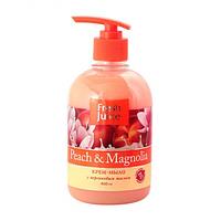 Крем-мыло жидкое FRESH JUICE Peach&Magnolia с глицерином, 460 мл (e.11507)