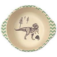 Тарелка из бамбукового волокна Динозавры Eco