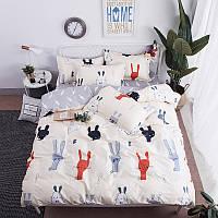 Комплект постельного белья Зайцы (двуспальный-евро) Berni