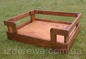 """Лежак деревянный для собаки """"Бонелли 90х60"""" мускат"""