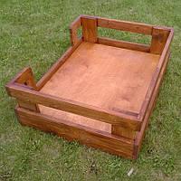 """Лежак деревянный для собаки """"Бонелли 80х50"""" мускат"""