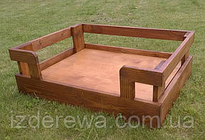 """Лежак деревянный для собаки """"Бонелли 70х45"""" мускат"""