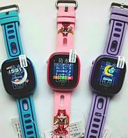 Детские умные часы Smart baby watch DF31g Blue с GPS трекером, IP67 цветной сенсорный экран,камера, фото 3