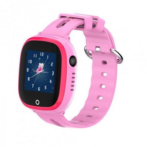 Детские умные часы Smart baby watch DF31g Pink с GPS трекером, IP67 цветной сенсорный экран,камера