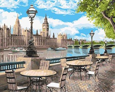 Картина за номерами Набережна Лондона GX25070 40х50 см