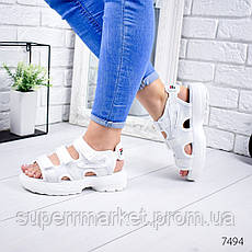 Босоножки женские в стиле Fila белые , 7494, фото 2