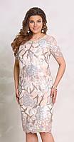 Платье Vittoria Queen-8183/1 белорусский трикотаж, пудровый, 50
