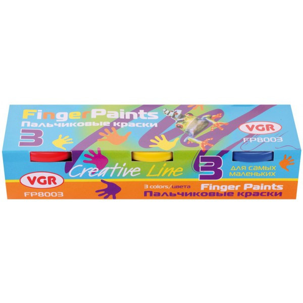 Краски пальчиковые 3 цвета VGR FP8003