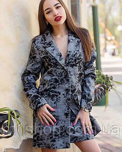 Женский юбочный костюм с удлиненным пиджаком (м642.2 mrb)
