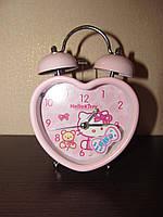 Годинник будильник Hello Kitty Хелло Кітті, для дівчинки