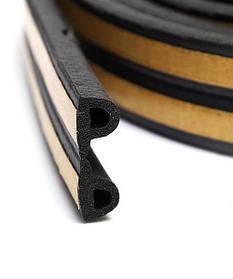 Уплотнитель самоклеящийся Technics тип Р черный 100 м (10-779)